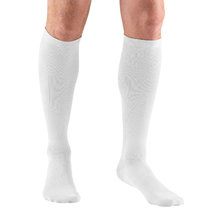 Men's Knee High Dress Socks in White
