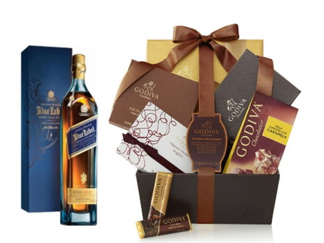 Godiva Basket Paired Johnnie Walker Blue