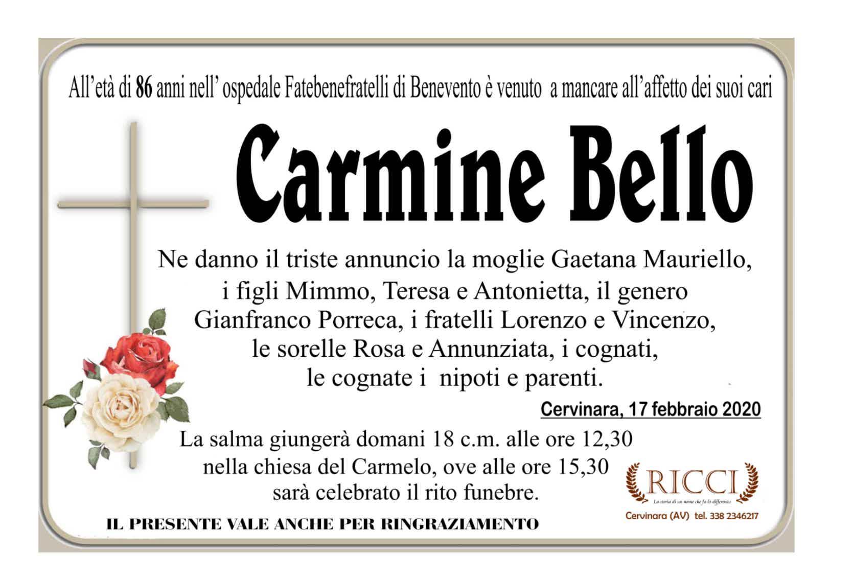 Carmine Bello