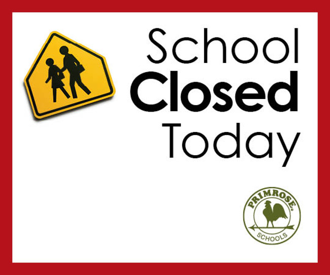 School closed today poster