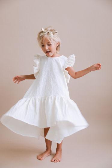 Платье со сборками из 100% хлопка