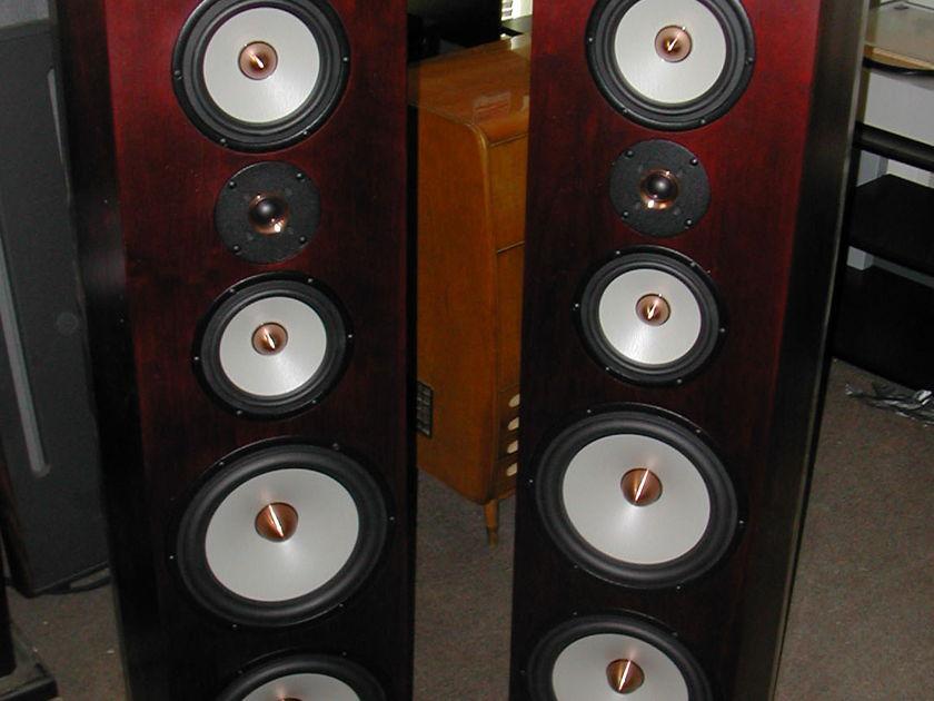 Tyler Acoustics Linbrook sig system in dark walnut upgraded woofers!