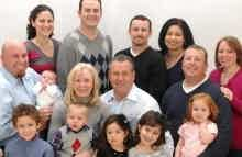 Franchise Owners of Primrose School Fred and Cheryl Jenkins with their family