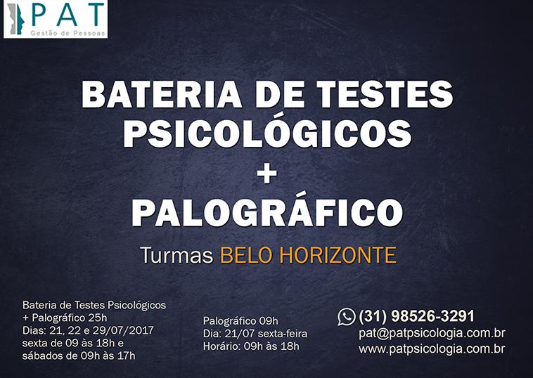 Bateria de testes psicológicos e Palográfico