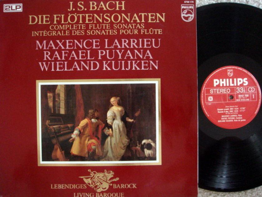 Philips / LARRIEU-PUYANA-KUIJKEN, - Bach Complete Flute Sonatas, MINT, 2 LP Set!