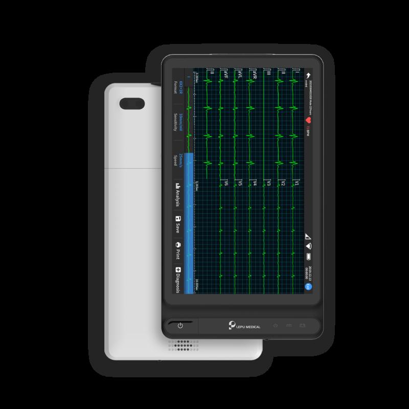 Macchina per ECG a 12 derivazioni basata su tablet Wellue.