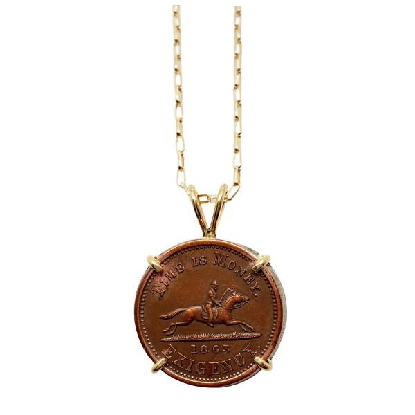 Time is Money Civil War token set in gold