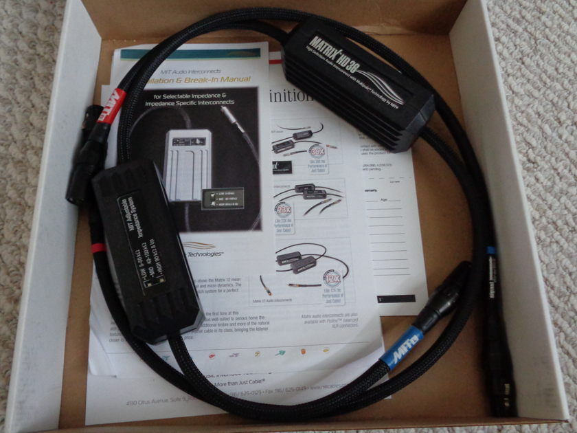 MIT Cables Matrix HD36 XLR Balanced IC 1 meter
