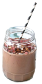 Peanut Chocolate Milkshake Recipe
