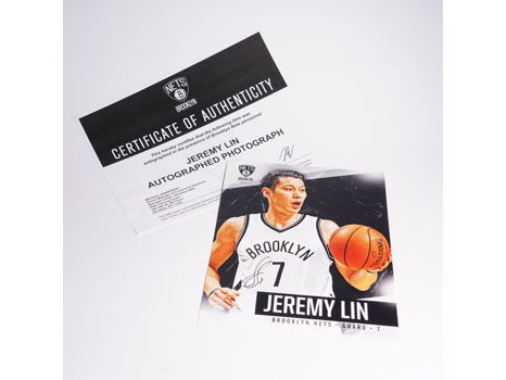 Signed Photo of Brooklyn Nets Jeremy Lin