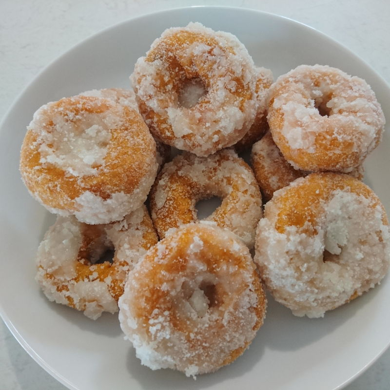 Date: 23 Oct 2019 (Wed) 6th Snacks: Sweet Potato Donuts (Kuih Keria) [76] [100.9%] [Score: 8.8] Author: Nyonya Cooking [Grace Teo] Cuisine: Malaysian, Singaporean, Indonesian Dish Type: Snack  If you love donuts, if you love sweet potatoes, and if you love sugar, this is the winning combination!