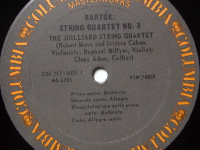 Columbia / JUILLIARD QT, - Bartok Six String Quartets, MINT, 3LP Box Set!