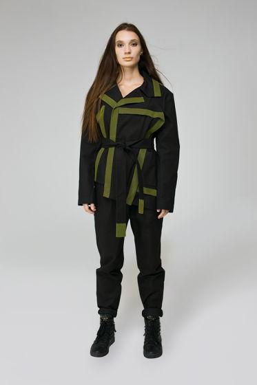 """Асимметричный женский пиджак """"STRIPES"""""""
