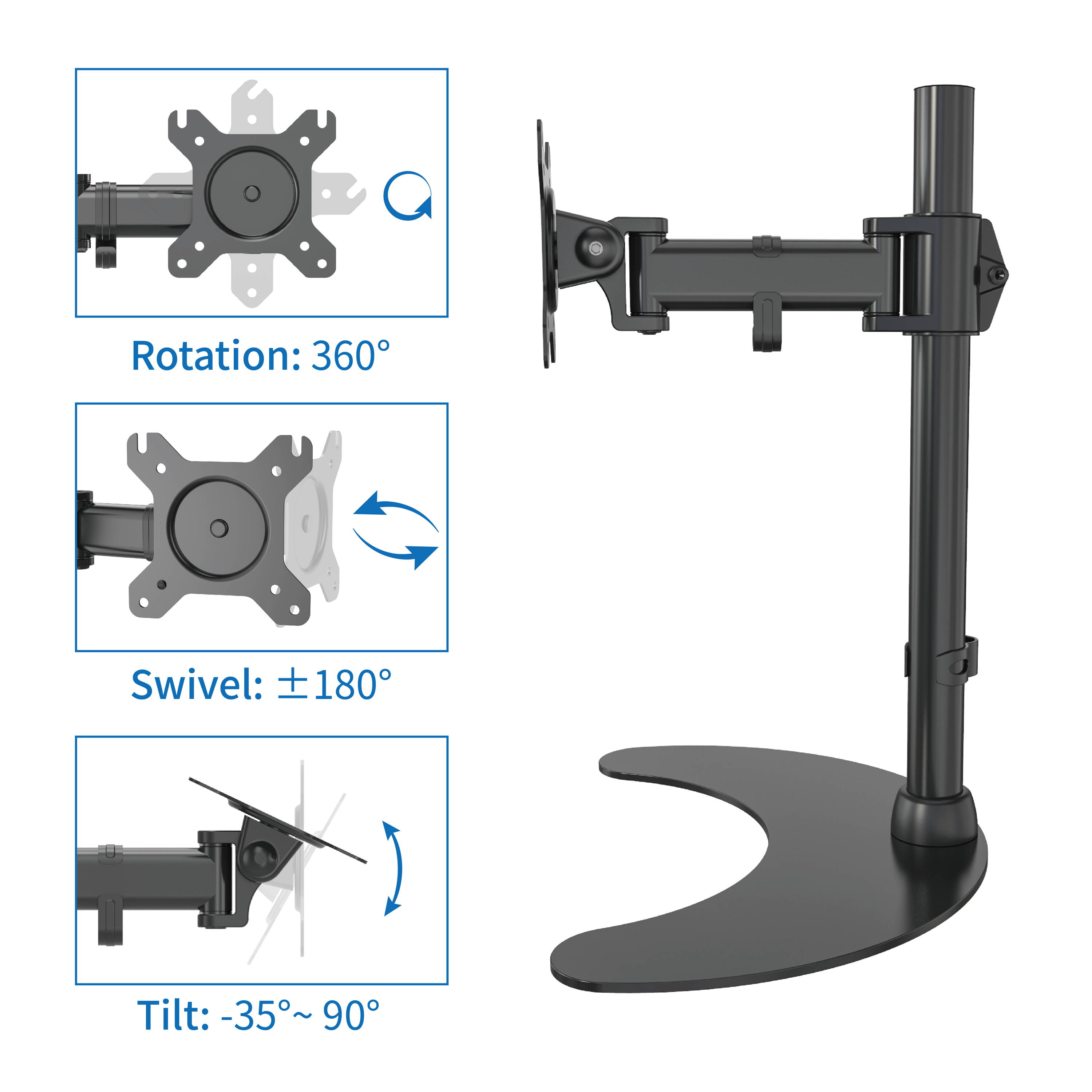 computer monitor arm for standing desk