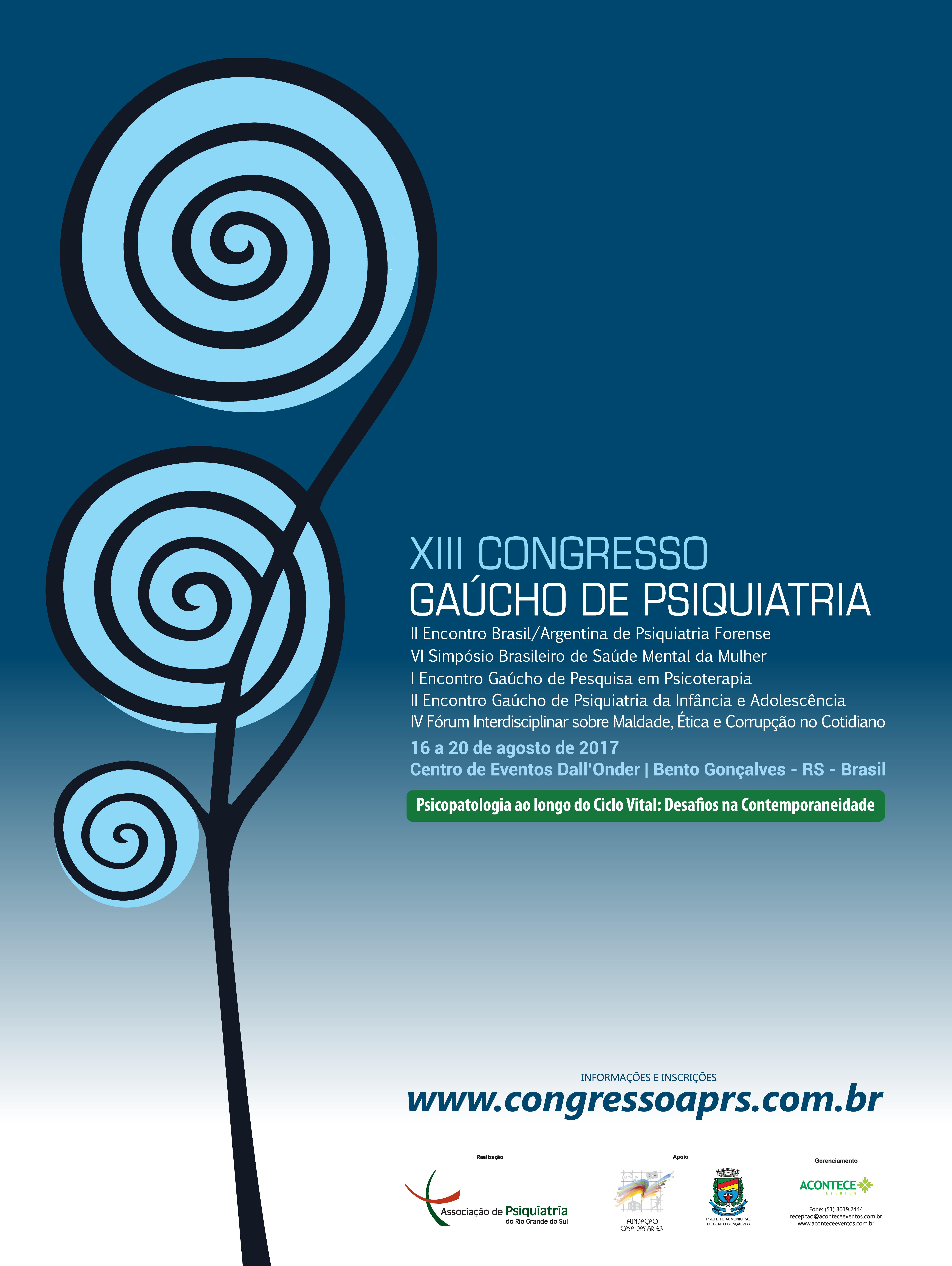 XIII Congresso Gaúcho de Psiquiatria - 2017