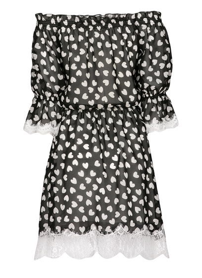 Платье с вставками из кружева