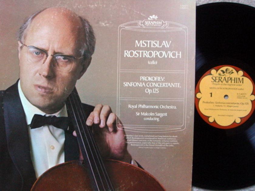 EMI Angel Seraphim / ROSTROPOVICH, - Prokofiev Sinfonia Concertante, NM!