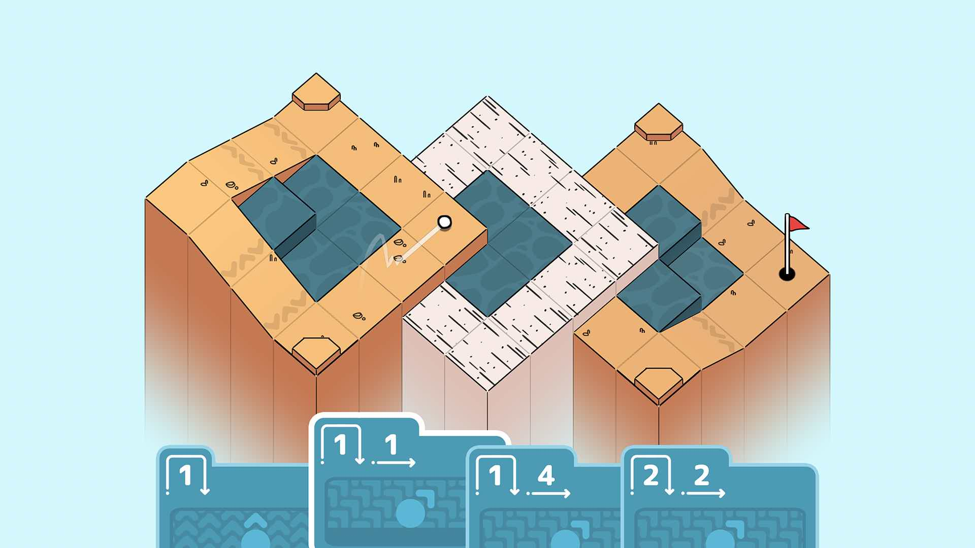 Card-based puzzler Golf Peaks out now on Steam and iOS - Gamepad News