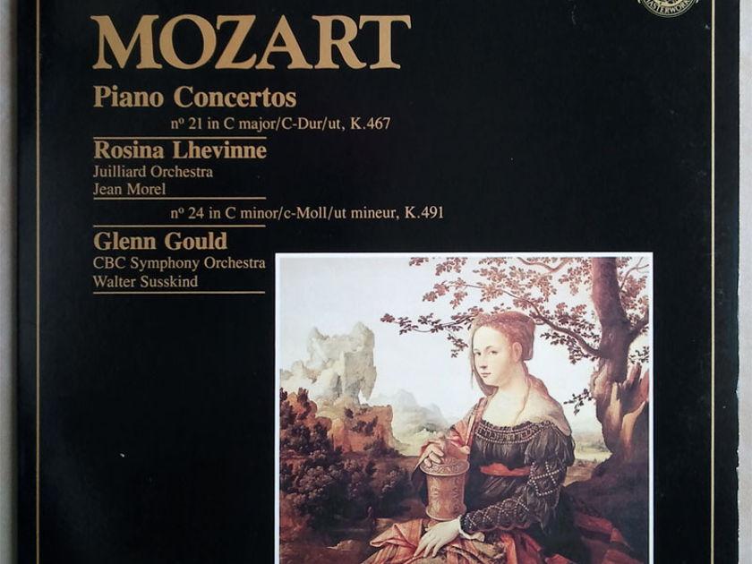 CBS/Glenn Gould/Rosina Lhevinne/Mozart - Piano Concertos Nos. 24 & 21 / NM