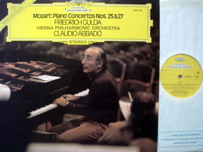 DG / GULDA-ABBADO, - Mozart Piano Concerto No.25 & 27, MINT, UK Press!