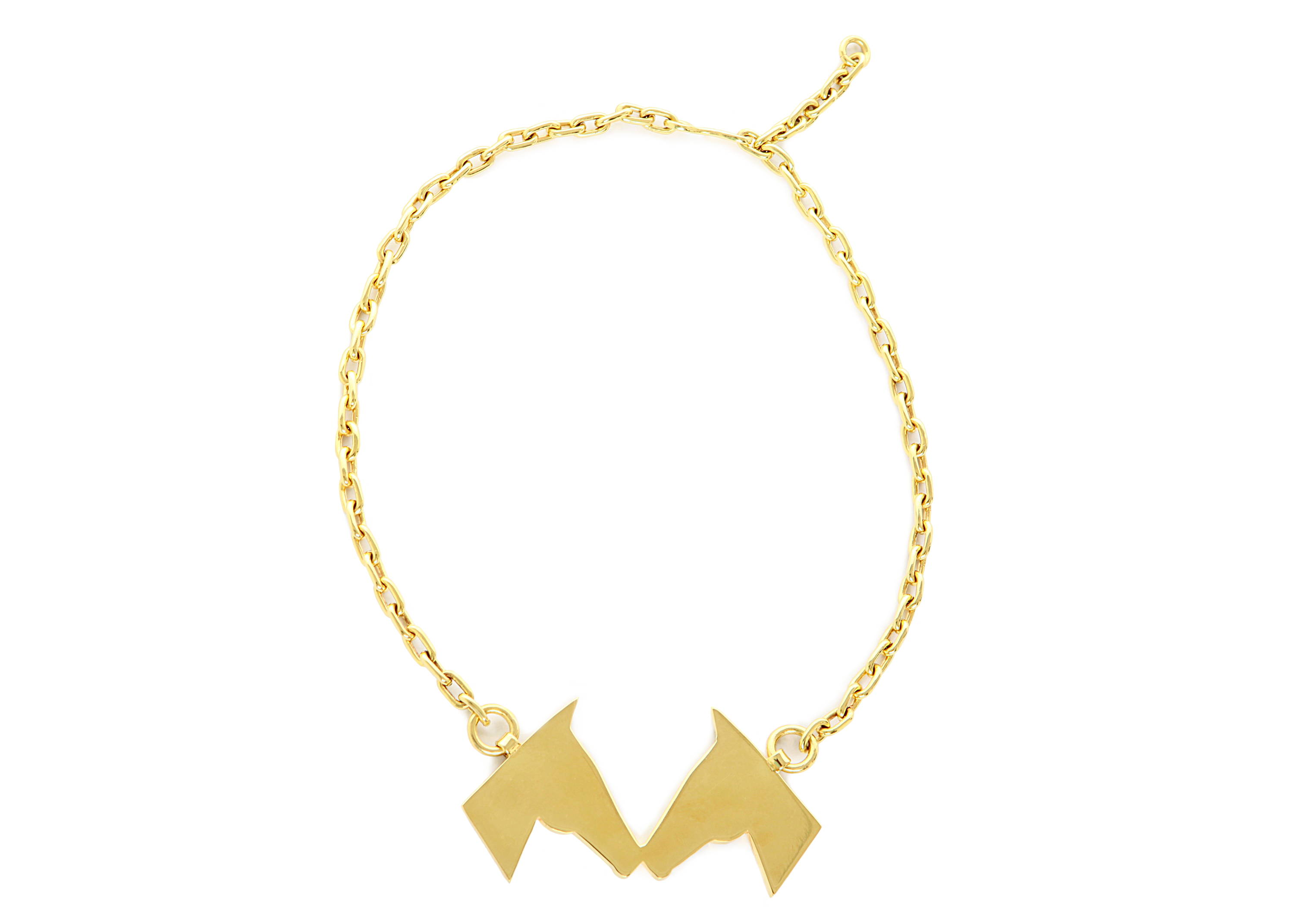 equestrian-inspired Gold Caballos Besando Necklace in Gold - Stick & Ball