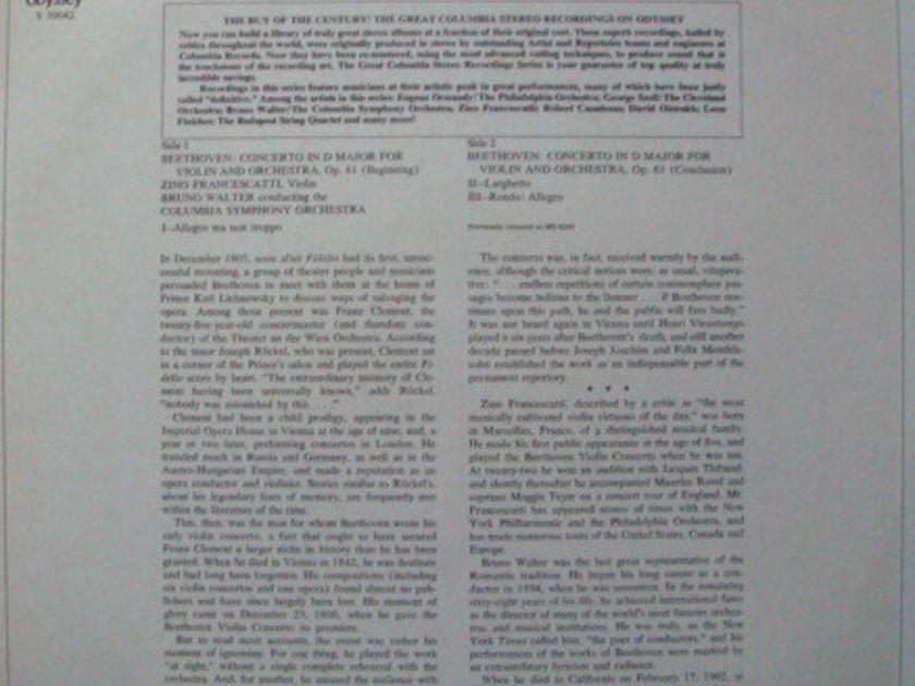 ★Sealed★ Columbia Ddyssey / - FRANCESCATTI, Beethoven Violin Concerto!