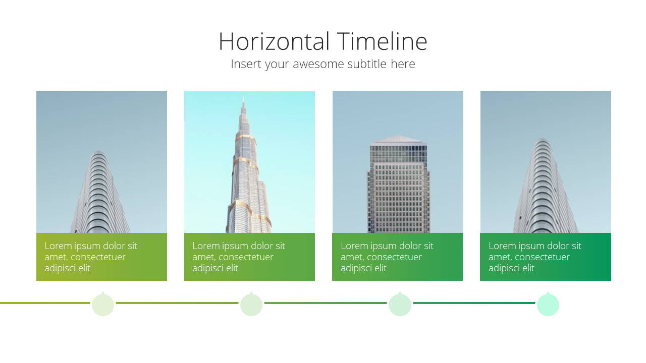 Modern X Sales Deck Presentation Template Timeline