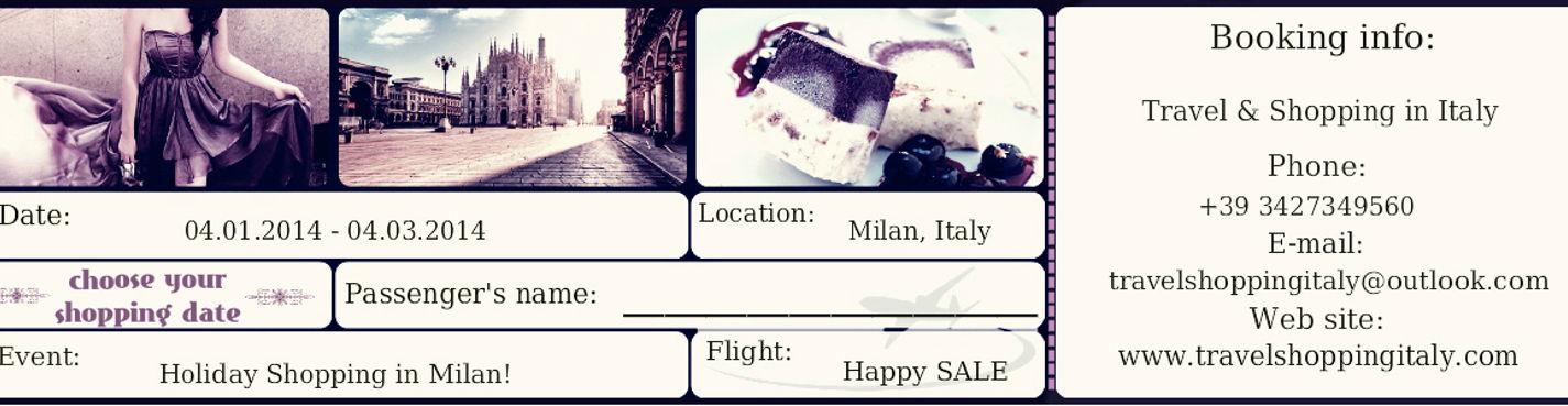 Запись на шоп тур в Милане в сезон зимних распродаж