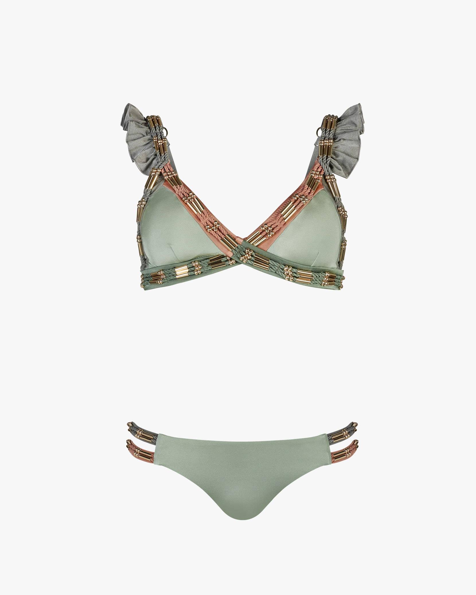 Lily & Rose Swimwear Gatsby Bikini in green