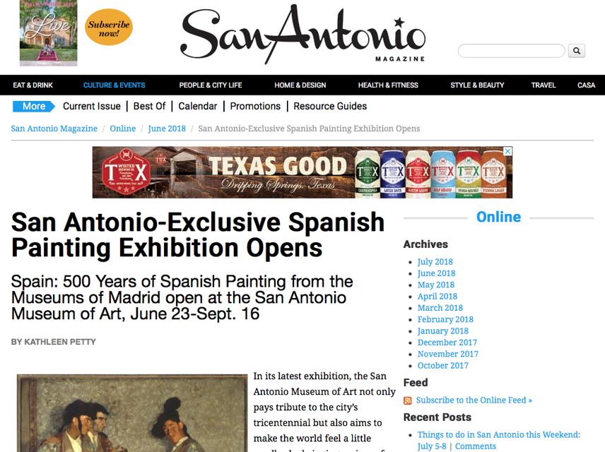 San Antonio Magazine, Spain
