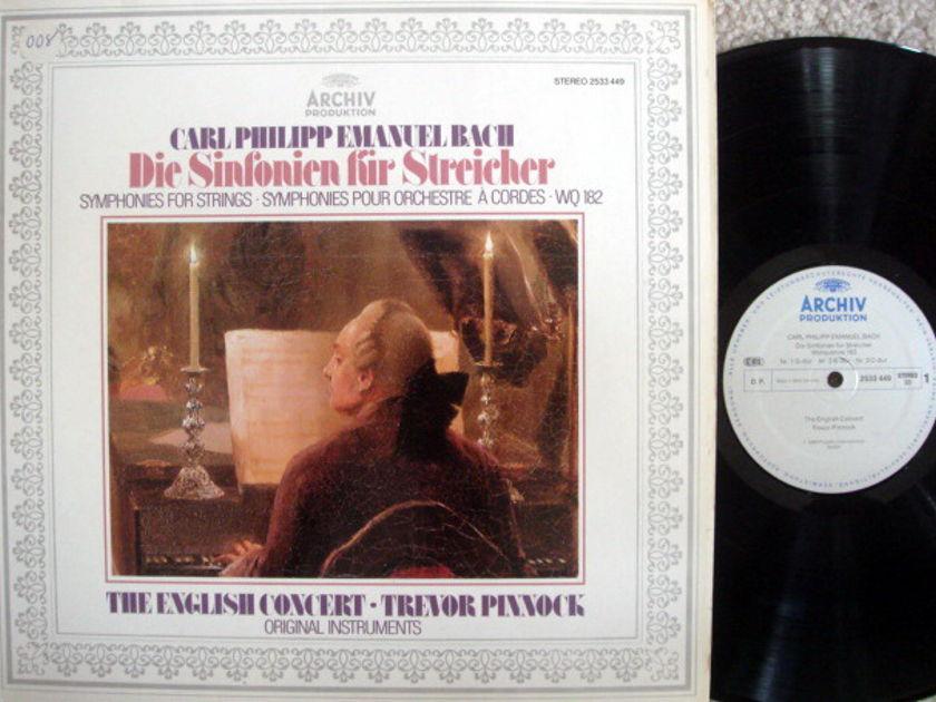 Archiv / PINNOCK, - CPE Bach Symphonies fro Strings, MINT!