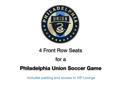 4 Front Row Union Soccer Tickets
