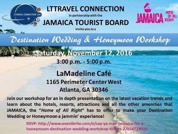 Say Ya Man Jamaica for a Honeymoon or Destination Wedding Workshop
