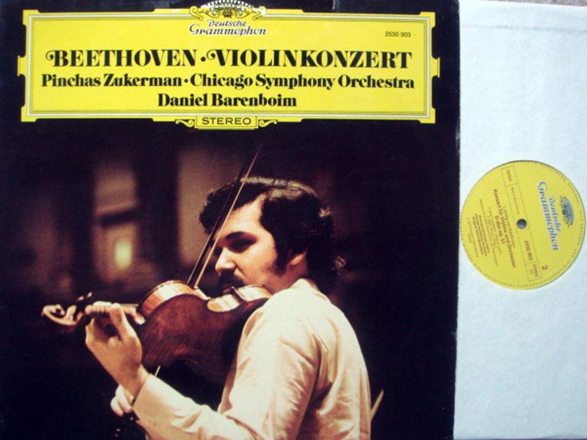 DG / ZUKERMAN-BARENBOIM, - Beethoven Violin Concerto, MINT!