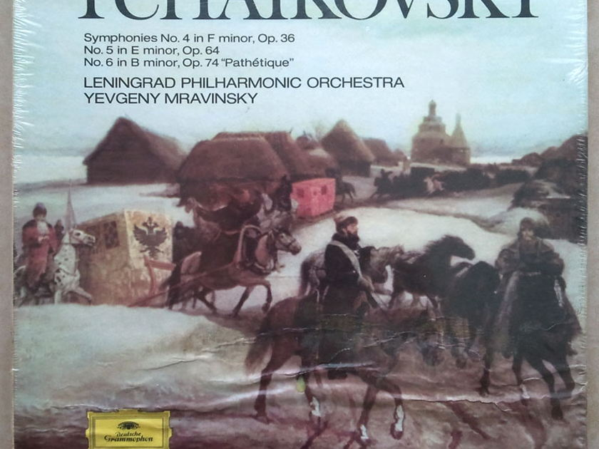 SEALED DG   MRAVINSKY/TCHAIKOVSKY - Symphonies Nos. 4, 5, 6 / 3-LP Box Set