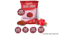 Red Pepper Salad Crisps with fresh ingredients