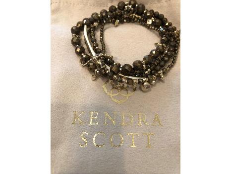 Kendra Scott Supak Bracelet in Gold with Pyrite