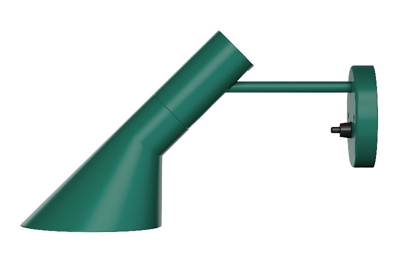 Th AJ Wall Lamp, shown in dark green