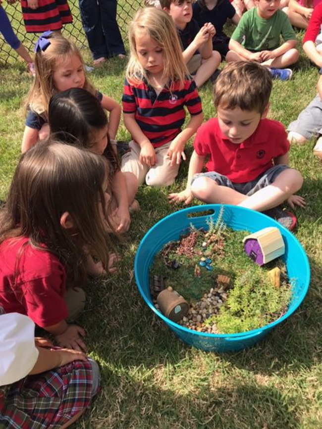 Image of children at celebrating Earth Day