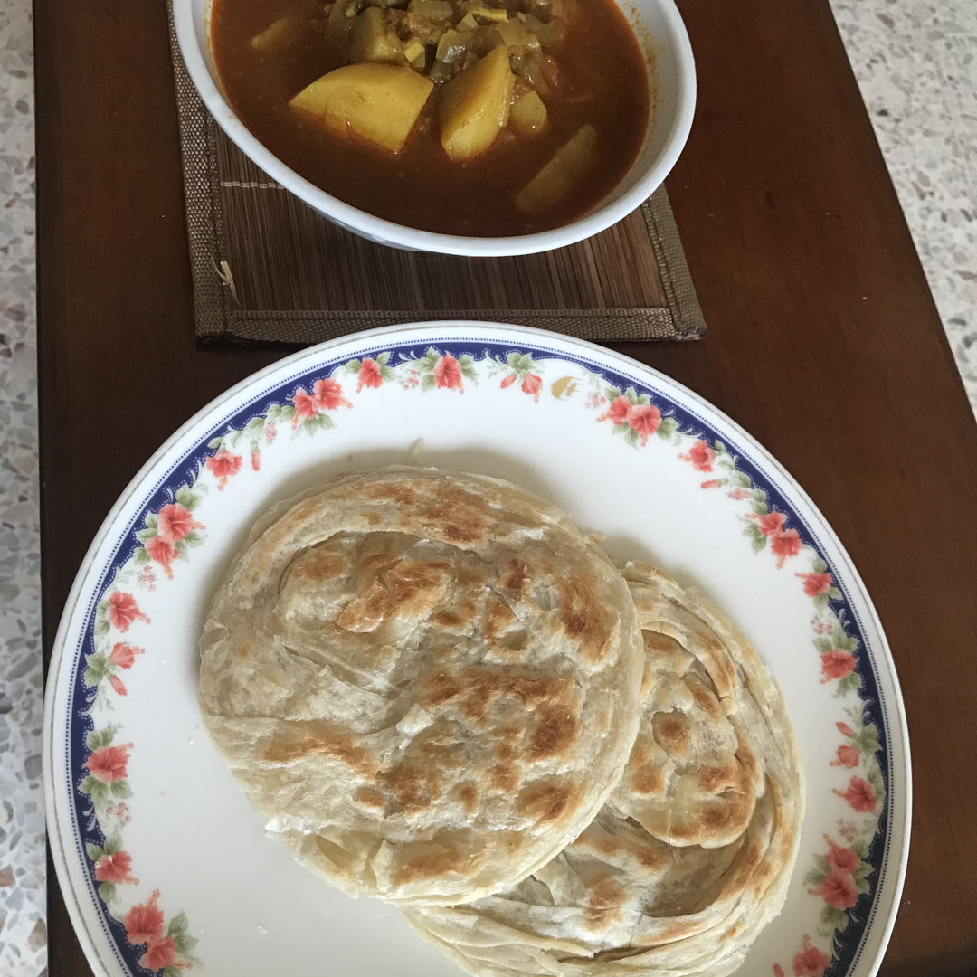 Roti canai for lunch! Simply awesome 😎 👏🏻