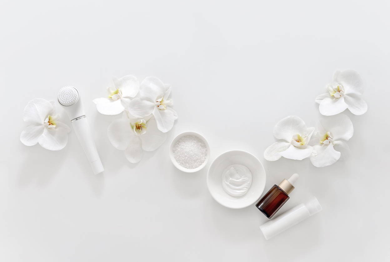 Facial Creams on display at  our Australian Skin Clinic