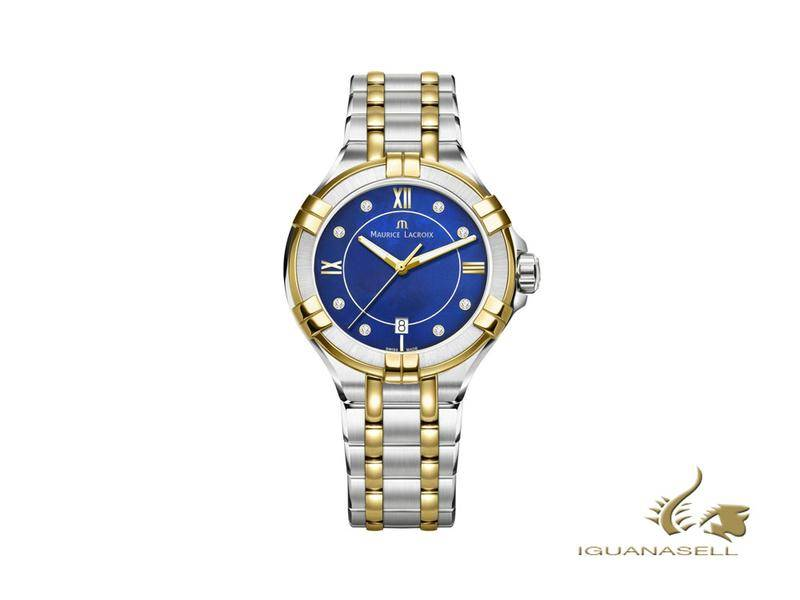 Maurice Lacroix Aikon Ladies Blue, Gold