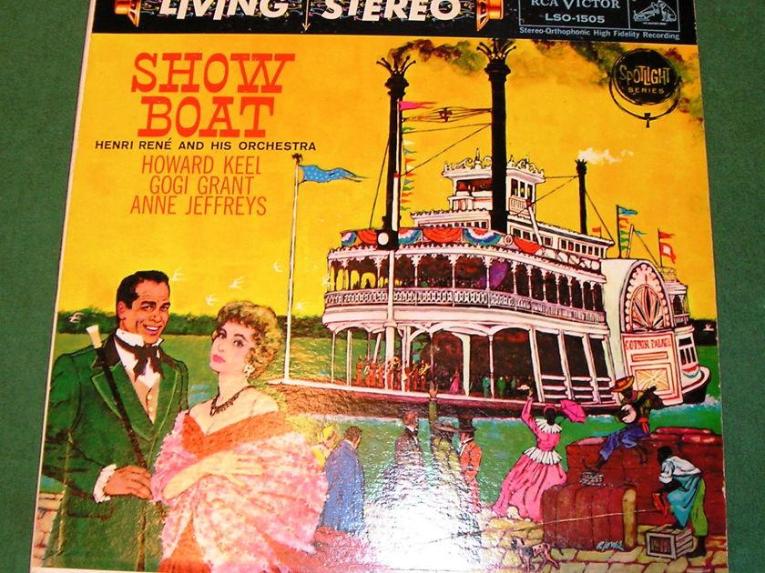 "HENRI RENE  ""SHOW BOAT"" - RCA LIVING STEREO BLACK DOG ** A1/A1 PRESS  9/10 **"