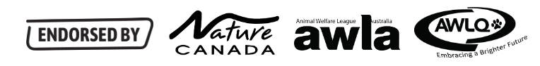 Endorsed by Nature Canada, Animal Welfare League of Australia