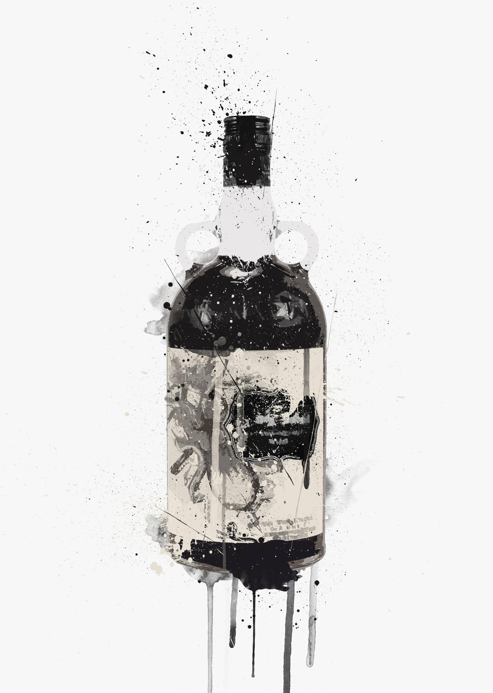 Spiced Rum Wall Art Print Illustration