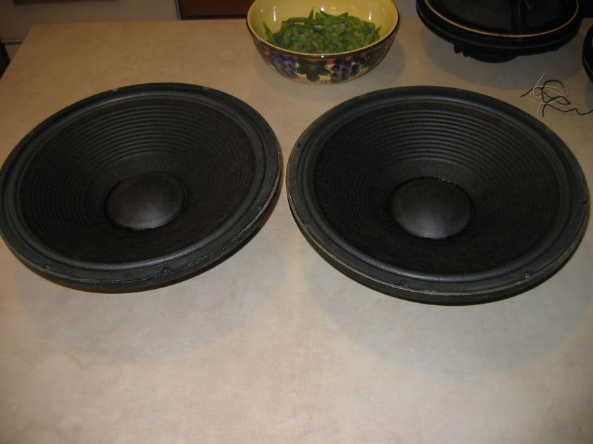 """JBL  136A Woofer Pair 15"""" Speakers"""