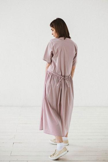 Платье жемчужное с завязками