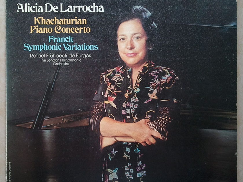 London ffrr/Alicia de Larrocha/Khachaturian - Piano Concerto, Franck Symphonic Variation / NM