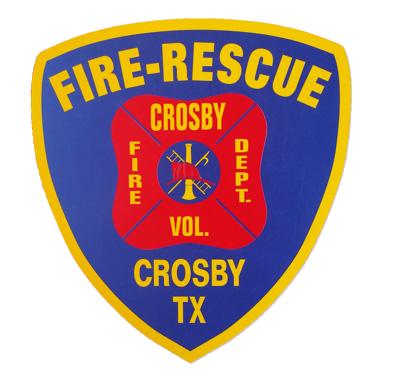 Crosby TX Fire Department Logo