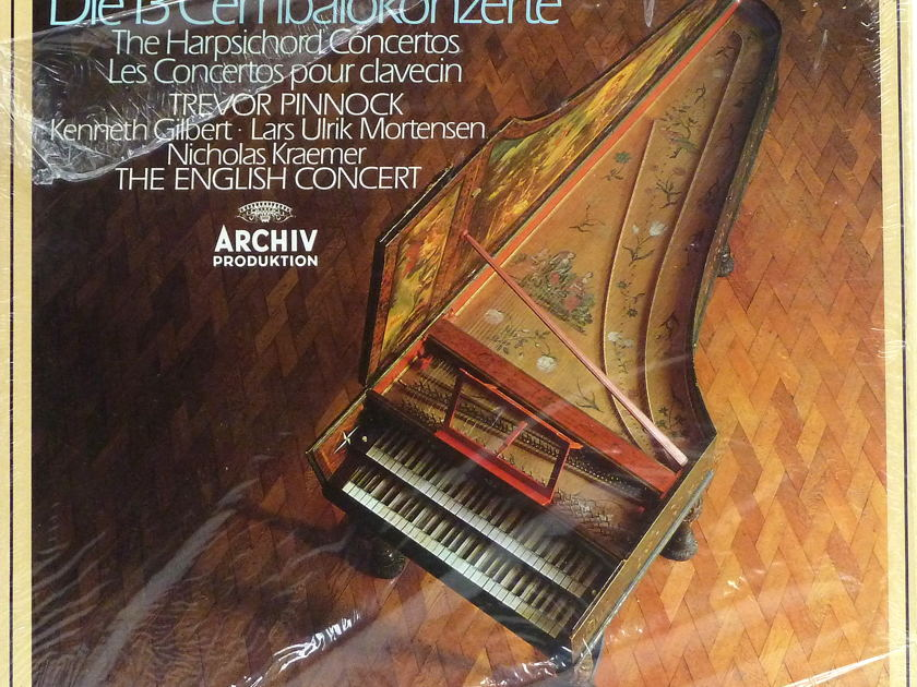 BACH: Harpsichord Concertos - Trevor Pinnock, English Concert Archiv Produktion, Still Sealed